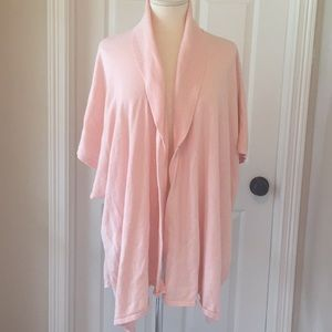 Chico's Pink Shawl Sweater One Size Cardigan
